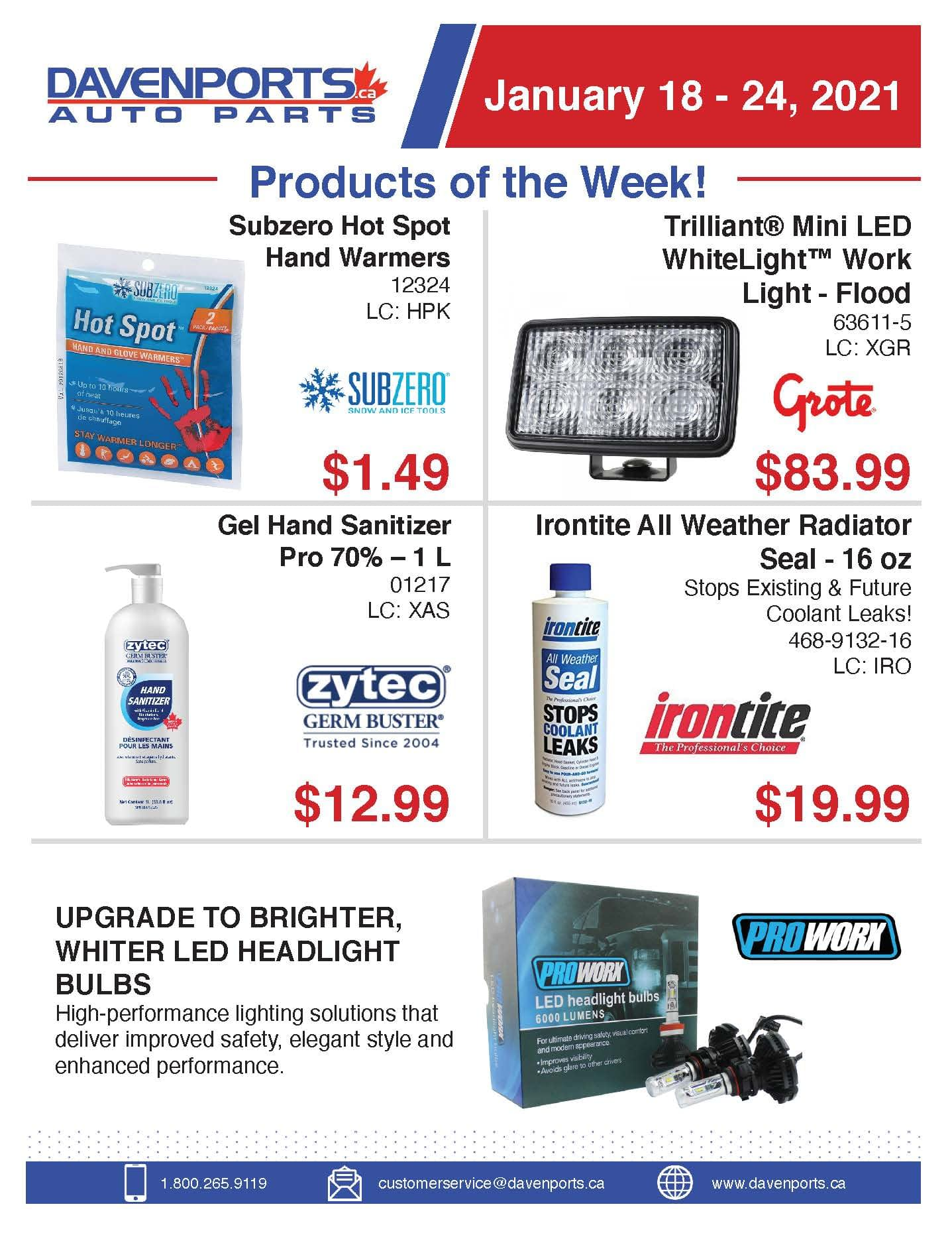 Products of the Week January 18 - 24, 2021