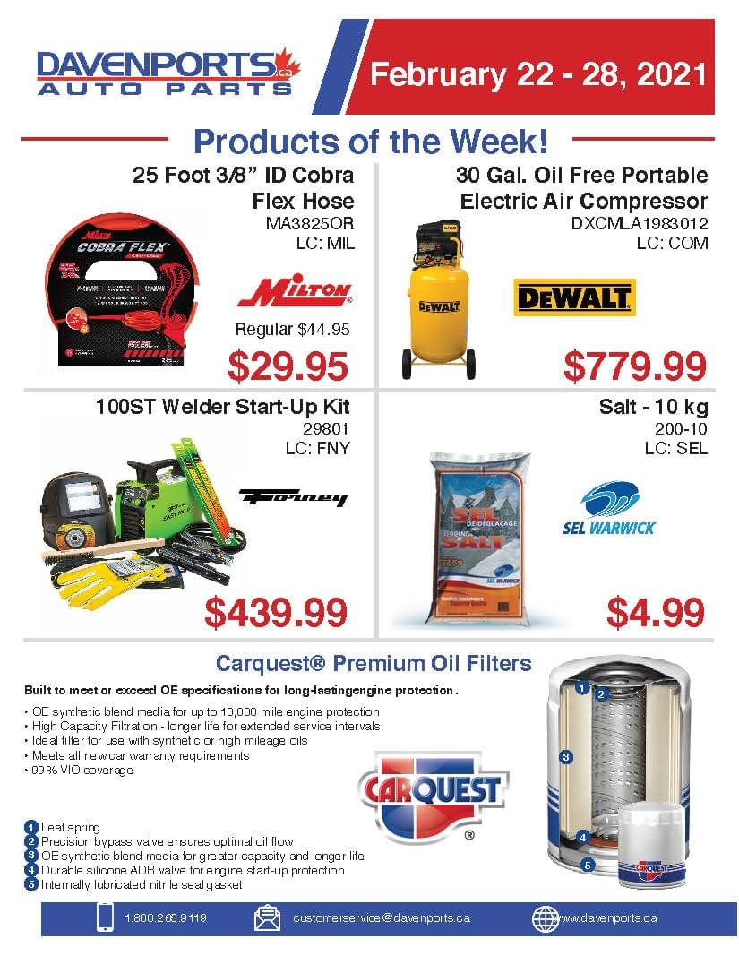 Products of the Week February 22 - 28, 2021