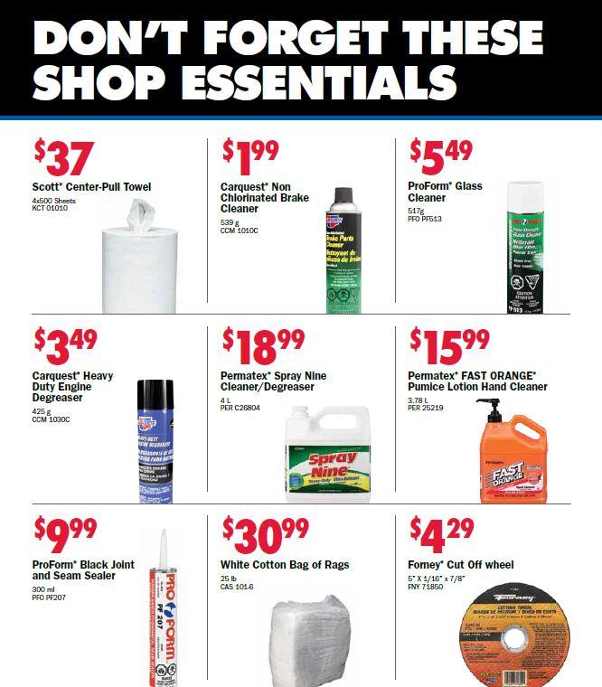 Shop Supplies Specials