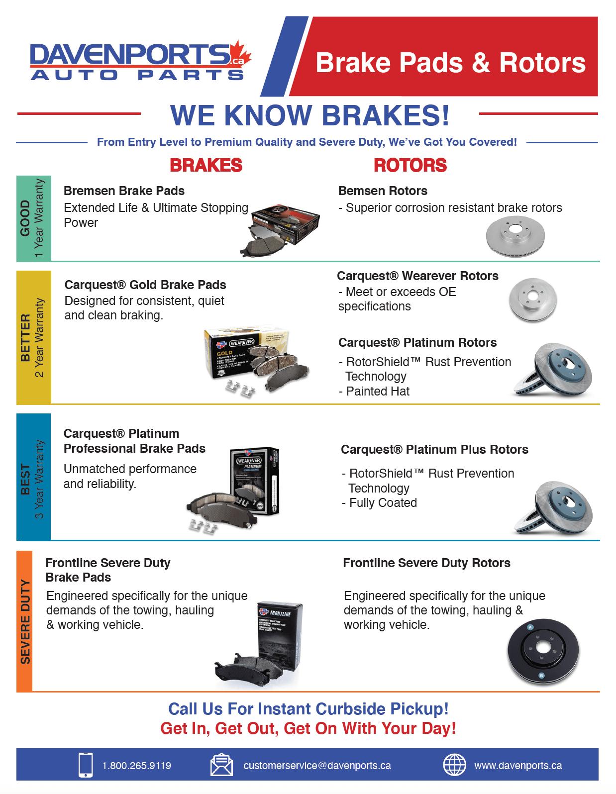 Davenport We Know Brakes