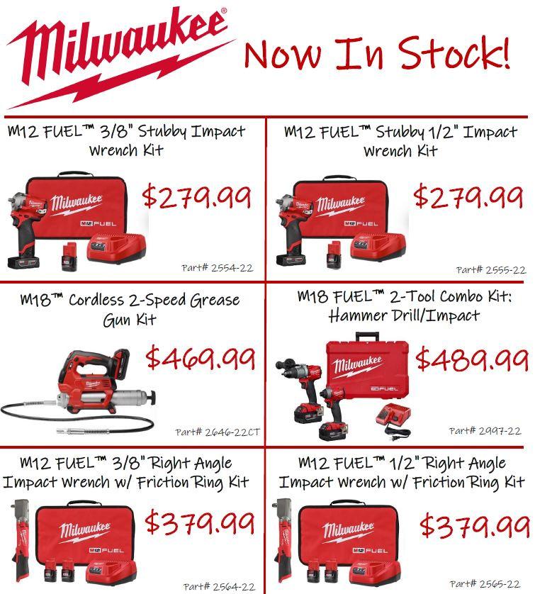 Milwaukee Tool Kits Now In Stock